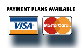 Here is some of our acceptable payment methods